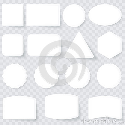 Étiquettes de blanc