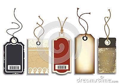 Étiquettes de ventes de carton