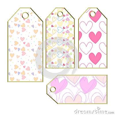 Étiquettes ou étiquettes de coeur