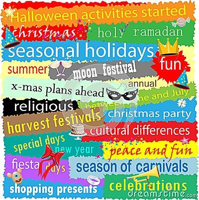 Étiquettes saisonnières de vacances