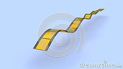 Tira de la película del oro