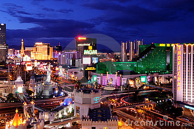 Tira de Las Vegas Imagem Editorial