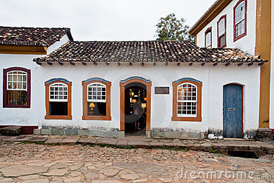Tiradentes Historical Building Minas Gerais Brazil Editorial Stock Image