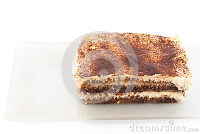 Tiramisu desseret isolated on white