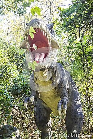 Fotografia stock tirannosauro rex di orrore