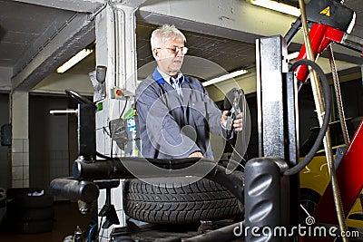 Tire change technician
