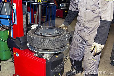 Tire Checkup Royalty Free Stock Photos - Image: 23630068