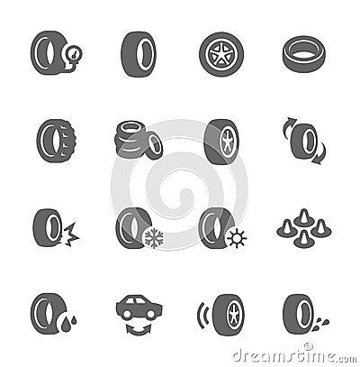 Free Tire Icons Royalty Free Stock Photos - 46128958