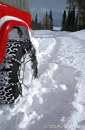 Free Tire In Deep Snow Royalty Free Stock Photos - 1098978