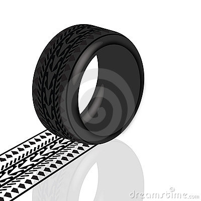 Tire with path