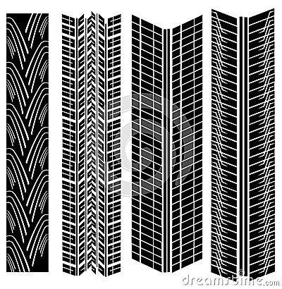 Tire prints vector
