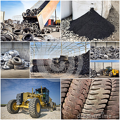 Free Tire Recycling Industry Royalty Free Stock Images - 39730349