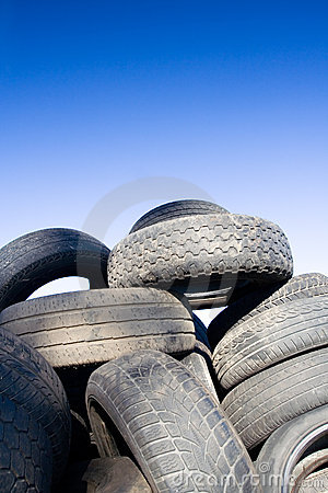 Tire recycling, landfill