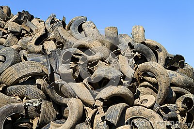 Tire Recycling Yard