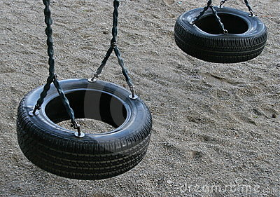 Tire swing for children