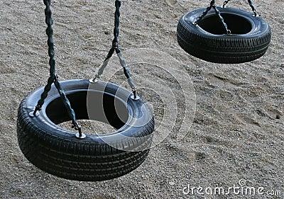 Tire swing for children