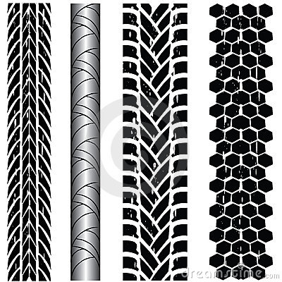 Free Tire Track Collection Stock Photography - 18554312