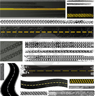Tire track and road collection