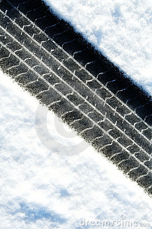 Free Tire Tracks In The Snow Royalty Free Stock Photo - 11128765