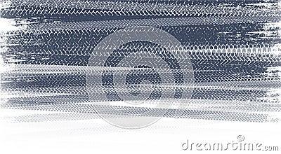 Tire tracks Stock Photo