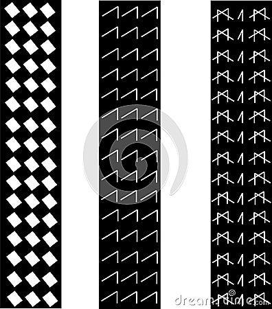 Tire tracks pattern