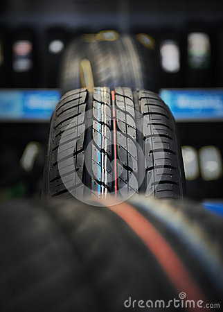 The tire tread.