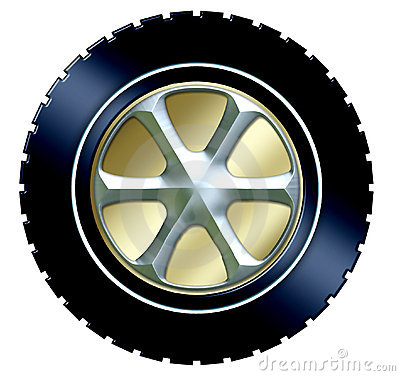 Free Tire W/hubcap Royalty Free Stock Photos - 539298