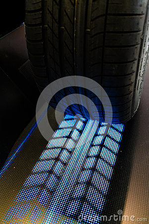 Free Tire With Lit Treads Stock Photo - 89563340