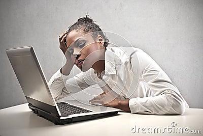 Tired Black Girl