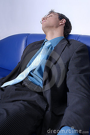 Free Tired Businessman Royalty Free Stock Image - 2486956