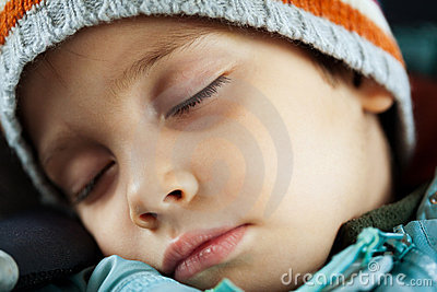 Tired child sleeping
