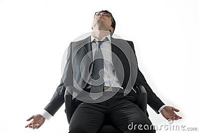 Tired/Depressed businessman