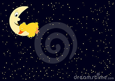Tired duck on the moon