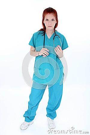 Tired Emergency Room Nurse