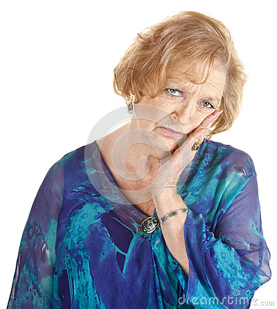 Tired Older Woman