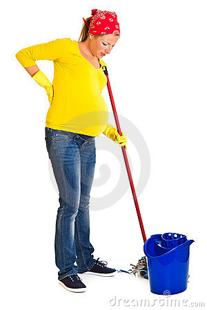 Free Tired Pregnant Woman Cleaning Stock Photo - 20254640