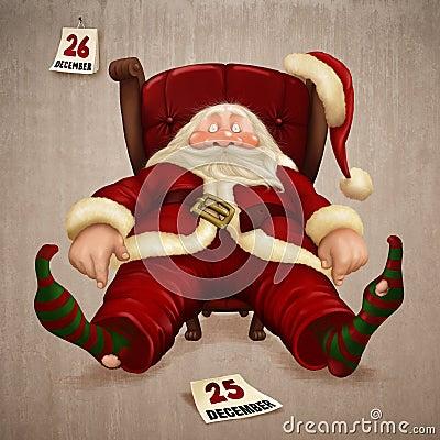 Free Tired Santa Claus Royalty Free Stock Image - 17366876
