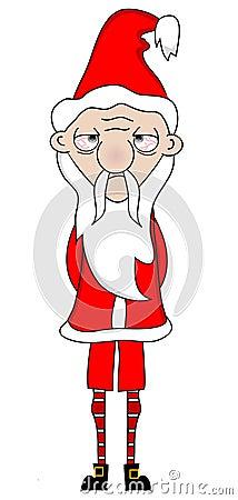 Tired Unhappy Santa