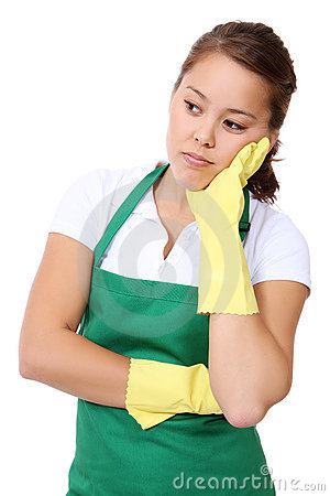 Tired Woman Maid