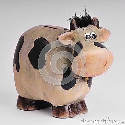 Tirelire de vache