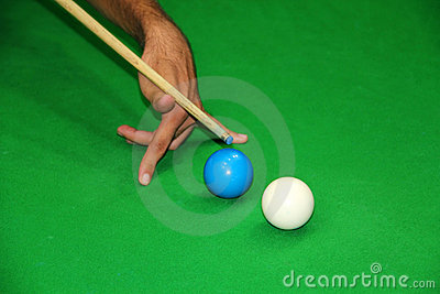 Tiro complicado do Snooker