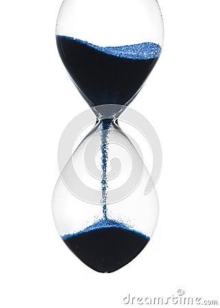 Tiro del primer del reloj de arena