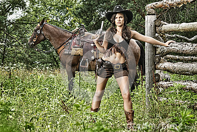 Tiros da arma - senhorita Sherif