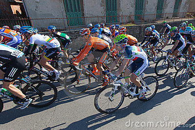 Tirreno Adriatico 2012, second stage Editorial Stock Image