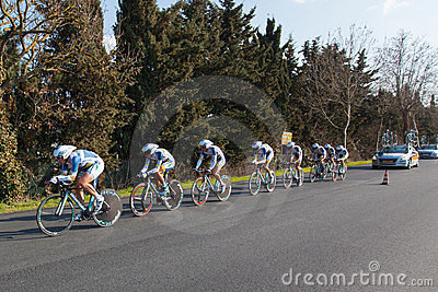 Tirreno Adriatico, first stage Editorial Stock Image