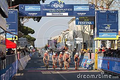 Tirreno Adriatico, first stage Editorial Image