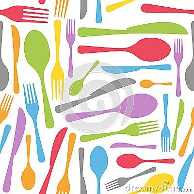 Tischbesteck-nahtloses Muster