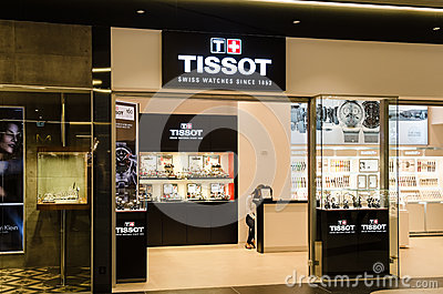 Tissot Shop Editorial Stock Image