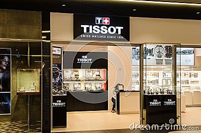 Tissot Shop Editorial Stock Image
