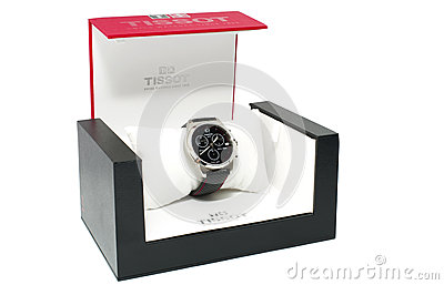Tissot wrist watch Editorial Photo